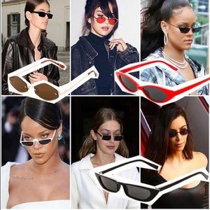 01042fb65f Accessories - White Flat Top Small Cat Eye Sunglasses FLASH SALE